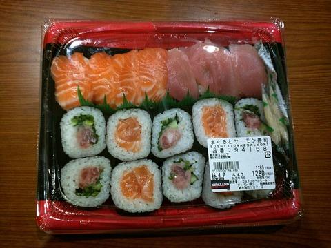 コストコ まぐろとサーモン寿司