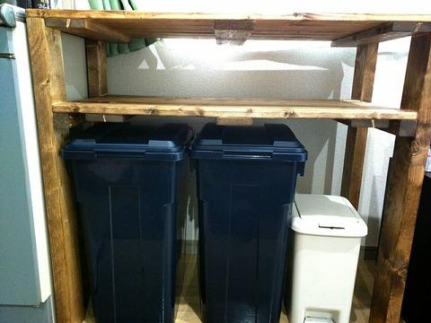 DIYで物置棚を作ってみた