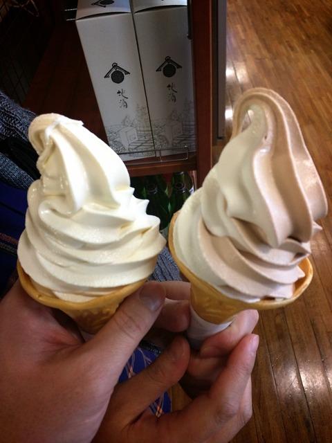 妙義物産センター 道の駅 ソフトクリーム