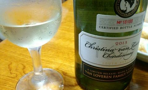 今夜は南アフリカのワインで乾杯(^-^)人(^-^)